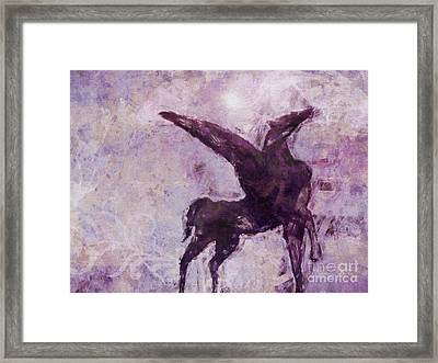 Pegasus Antique Framed Print by Lutz Baar