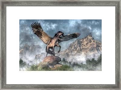 Pegasus Framed Print by Daniel Eskridge