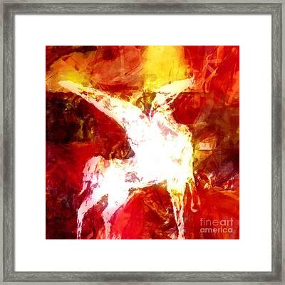 Pegasus Glow Framed Print