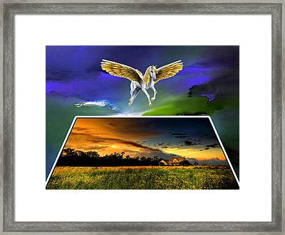 Pegasus In Flight Framed Print