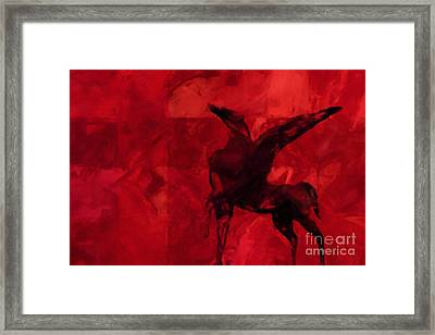 Pegasus Red Framed Print