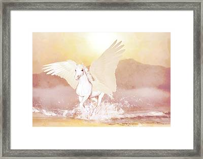 Framed Print featuring the painting Pegasus   by Valerie Anne Kelly