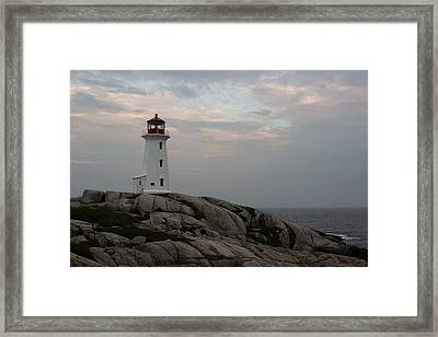 Peggy Point Lighthouse Framed Print by Tammy and Dale Anderson