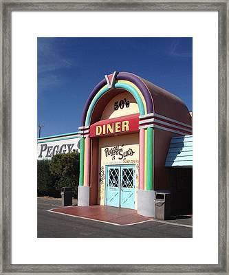 Peggy Sue's 50's Diner Framed Print