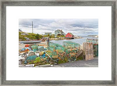 Peggy's Cove 5 Framed Print by Betsy Knapp