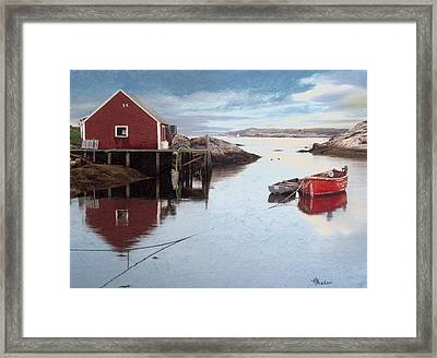 Peggys Cove Framed Print by Brent Ander