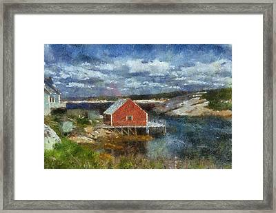 Peggy's Cove Framed Print