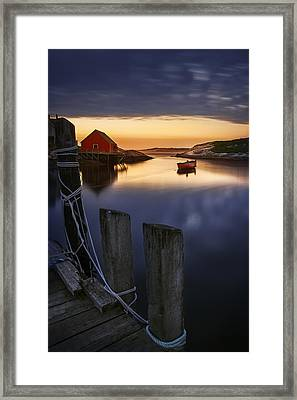 Peggy's Cove Harbour Framed Print by Magda  Bognar