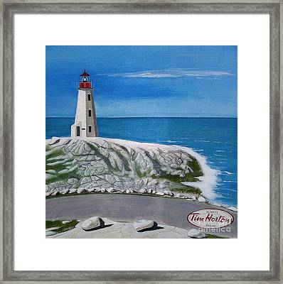 Peggy's Cove Framed Print by John Lyes