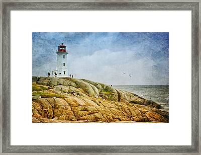 Peggy's Cove Lighthouse - 2 Framed Print