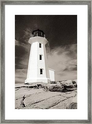 Peggy's Cove Lighthouse Framed Print by Arkady Kunysz