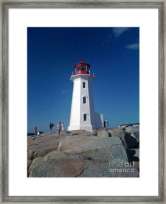 Peggy's Cove Lighthouse Framed Print by Brenda Brown
