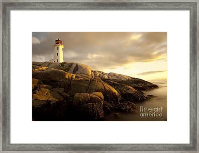 Peggys Cove Lighthouse Nova Scotia Framed Print