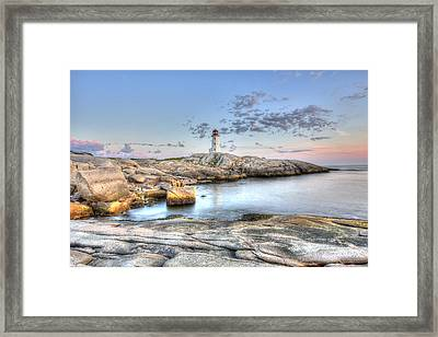 Framed Print featuring the photograph Peggy's Cove Lighthouse by Shawn Everhart