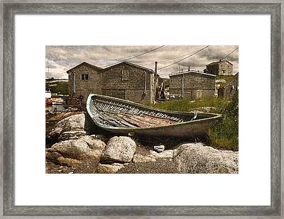 Peggy's Cove Nova Scotia  Framed Print by Cindy Rubin
