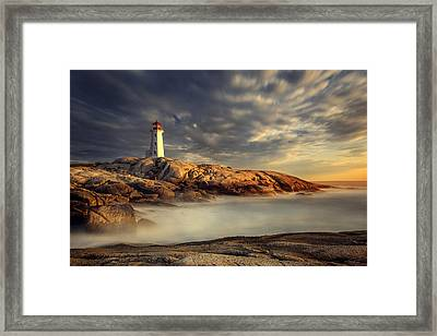 Peggy's Cove Nova Scotia Framed Print by Magda  Bognar