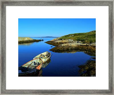 Peggys Cove Row Boats Framed Print