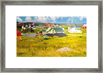 Village Folk Framed Print by Diana Angstadt
