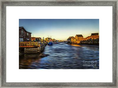 Peggys Golden Moment Framed Print