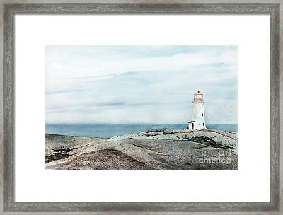 Peggy's Light Framed Print