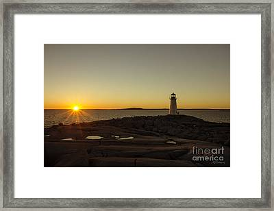 Peggy's Sunset Framed Print