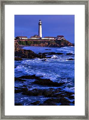 Pegion Point Light Station Framed Print by Garry Gay