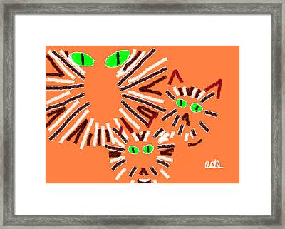 Pegs Punky And Lulu Framed Print