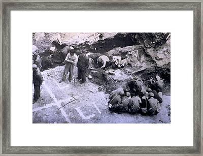 Peking Man Excavations Framed Print