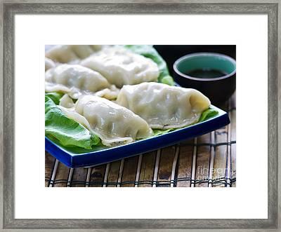 Peking Ravioli Framed Print by Edward Fielding