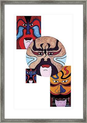 Framed Print featuring the painting Pekingopera No.2 by Fei A