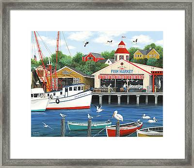 Pelican Bay Framed Print by Wilfrido Limvalencia