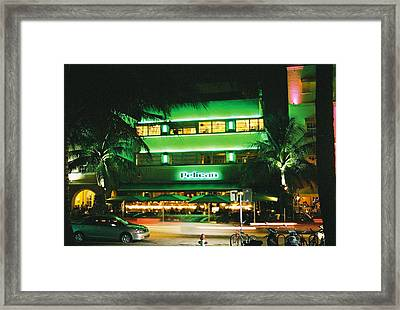 Framed Print featuring the photograph Pelican Hotel Film Image by Gary Dean Mercer Clark