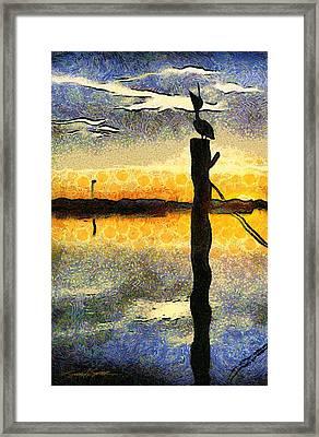Pelican Stretch Framed Print