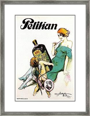 Pelikan Tonic Framed Print by Charlie Ross