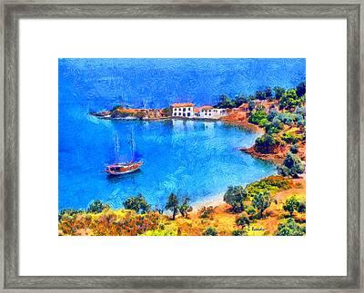 Pelion Tzasteni Framed Print by George Rossidis