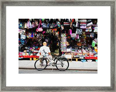 Pell St. Chinatown  Nyc Framed Print by Joan Reese
