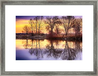 Pella Crossing Sunrise Reflections Hdr Framed Print by James BO  Insogna