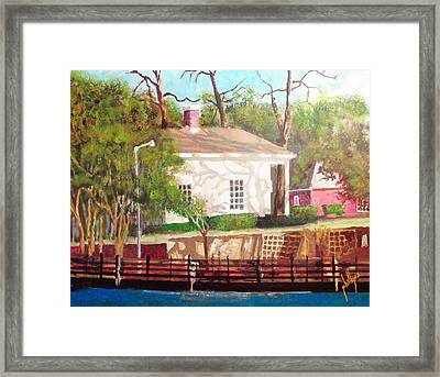 Pelleteir House 1850 Framed Print