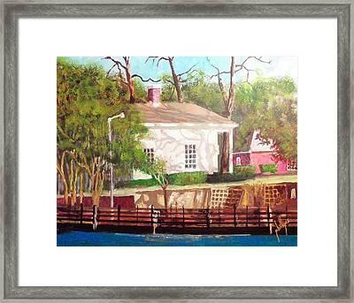 Pelleteir House 1850 Framed Print by Jim Phillips