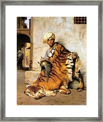 Pelt Merchant  Framed Print by Jean Leon Gerome