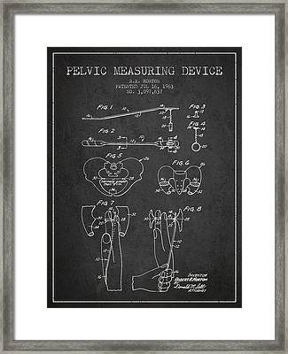 Pelvic Measuring Device Patent From 1963 - Charcoal Framed Print by Aged Pixel