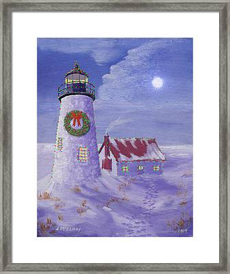 Pemaquid Christmas Framed Print by Jerry McElroy