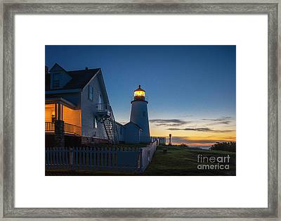 Pemaquid Dawn Framed Print by Scott Thorp