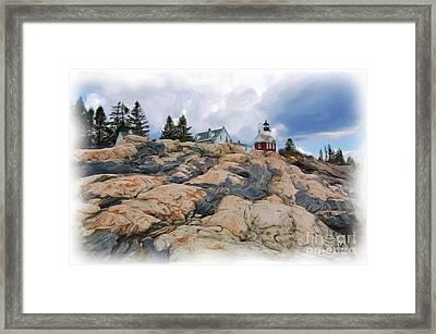 Pemaquid Lighthouse 903 20140815 Framed Print by Julie Knapp