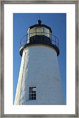 Framed Print featuring the photograph Pemaquid Lighthouse by Amazing Jules