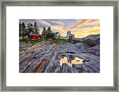 Pemaquid Lighthouse Reflection Framed Print by Benjamin Williamson
