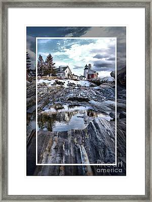 Pemaquid Lighthouse Framed Print by Victoria  Dauphinee