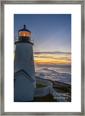 Pemaquid Lights Framed Print by Scott Thorp