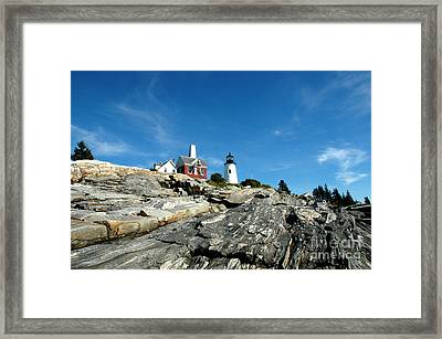 Pemaquid Point Framed Print by Alan Russo