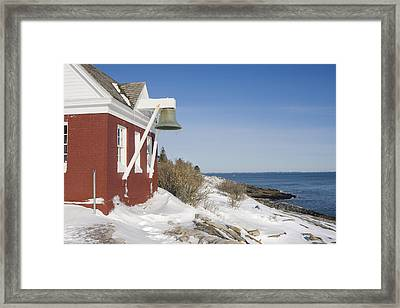 Pemaquid Point Bell House On The Maine Coast Framed Print
